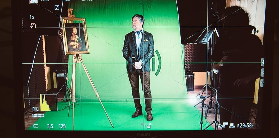 Iniziate le riprese per il progetto innovativo sulla Dama con l'Ermellino